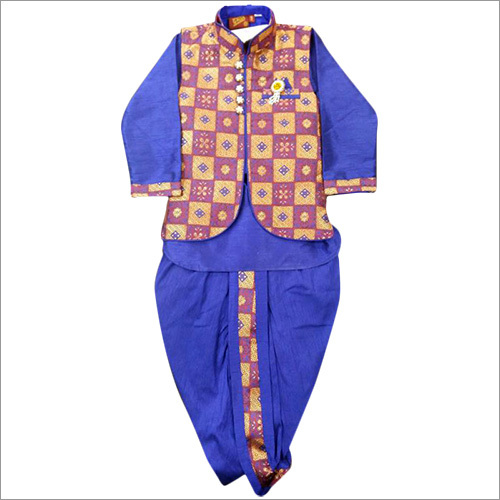 Kids Blue Sherwani