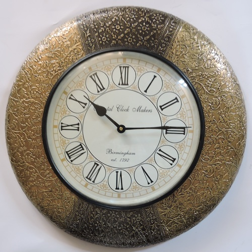 Brass Fitted Wooden Decorative Wall Clocks