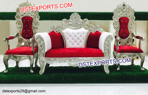 Royal Silver Carved Furniture King Throne Chair