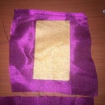Shreeji Gold Glitter Pearl on Silk Fabrics