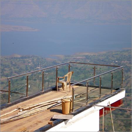 Ss Duplex Staircase Glass Railing
