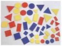 GEOMETRICAL SHAPES, PLASTIC, SET OF 48