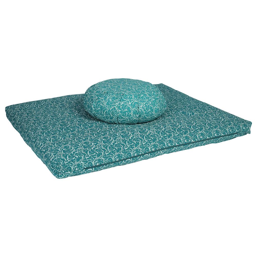 Meditation Cushion Set- Turquoise