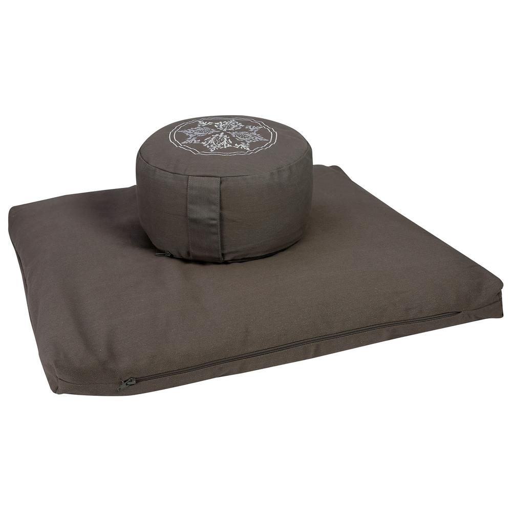 Meditation Cushion Set- Grey