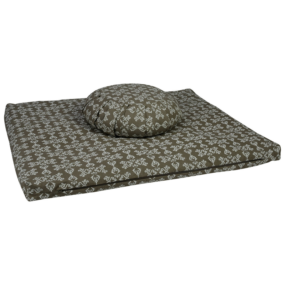 Meditation Cushion Set- Warm Grey