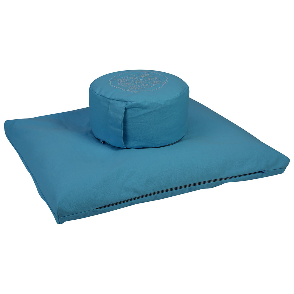 Meditation Cushion Set- Sky Blue