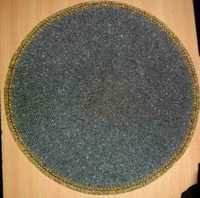Dark Grey Beaded Placemat