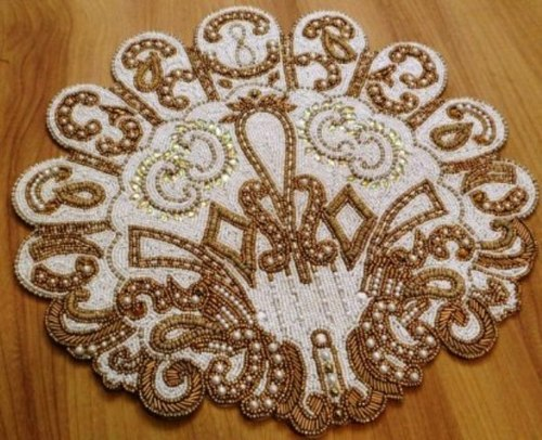White Bead Placemat