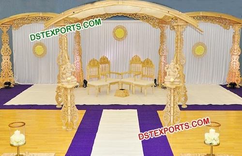 Designer Carved Wedding Mandap