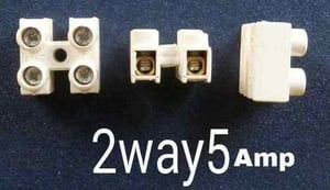 Connector 2 Way 5 Amps Small