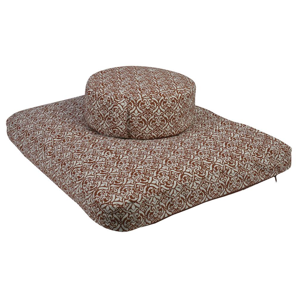 Meditation Cushion Set- Egg Plant