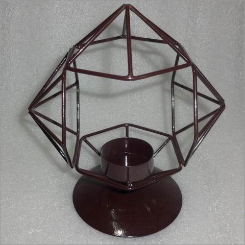 Bowl Shape Iron Candle Holder