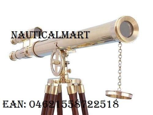 "NAUTICALMART Floor Standing Brass Griffith Astro Telescope 40"" - FREE GOLD BASKET"