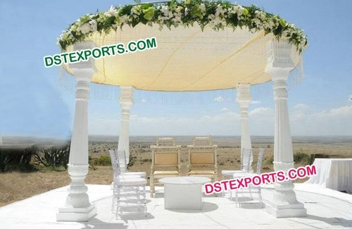 Open White Wedding Mandap
