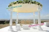 Open White Wedding Mandap