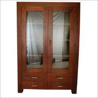 Wooden Almirah With Glass Window