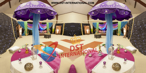 Muslim Sangeet Reception Umbrella Decor