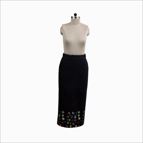 Black Printed Skirt