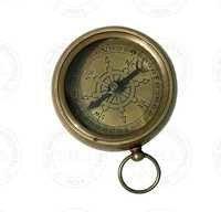 Antique Brass Flat Compass