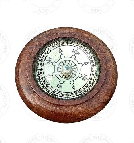 Wooden Round Compass