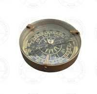 Brown Antique Victorian Pocket Flat Compass