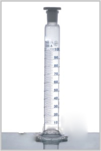 Measuring Cylinder Hexagonal Base with Polyethylene stopper, Class A DIN 12685, ISO 4788.