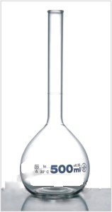Volumetric Flask With Rim Without Stopper ISO 1042, DIN 12664, Class A