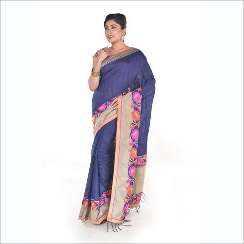 Ladies Tussar Silk Sarees