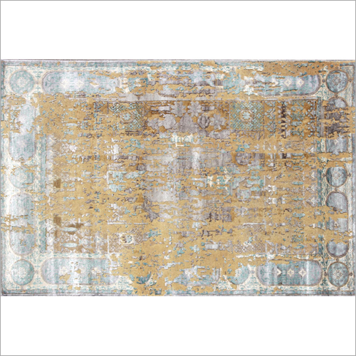Hand Knotted Designer Silk Carpet