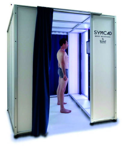 Compact 3D body scanner SYMCAD III with 20 sensors