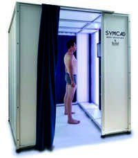 Compact 3D body scanner SYMCAD III with 16 Sensors
