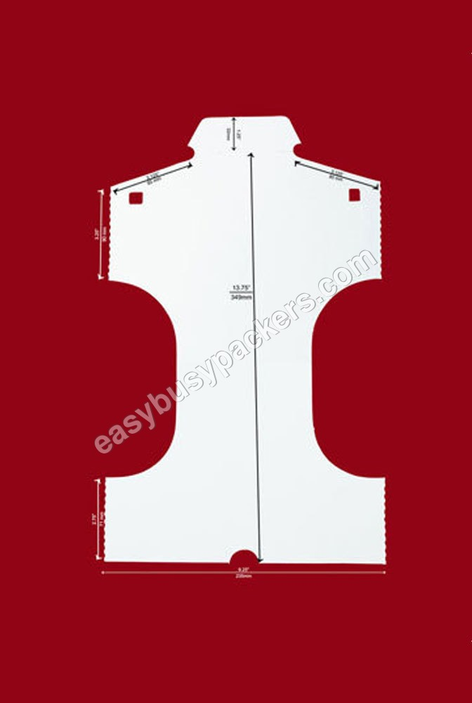Formal shirt inner small aeroplane shape