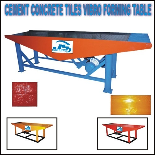Cement Concrete Tiles Vibro Forming Table