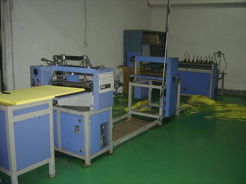 KNIFE PLEATING WITH MARKING & ON-LINE CUTTER
