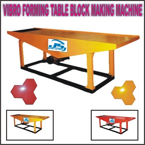 Vibro Forming Table Block Making Machine