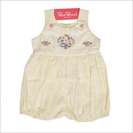 Yellow Cotton Baby Romper