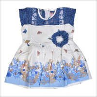 Girls White Frill Frock
