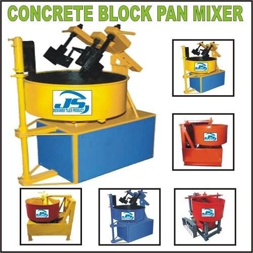 Concrete Block Pan Mixer