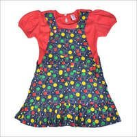 Girls Black Printed Frock