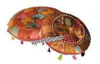 Rajasthani Cushions Patchwork Round Panel
