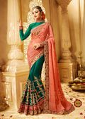 Multiclour Georgette Printed stylish daily wear saree