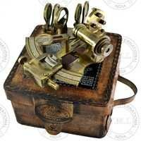 Antique 1917 Kelvin & Hughes German Nautical Sextant With Leather Case