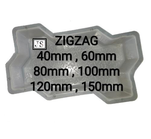 Zig-Zag Paver Block Plastic Mould