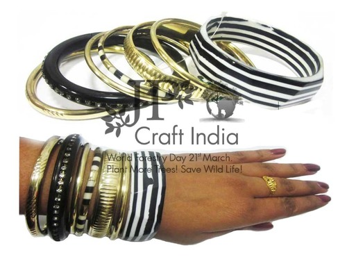 Zebra Bangle Set