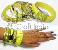 Brass & Resin Bangle Set