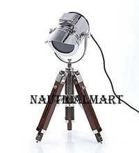 NauticalMart Vintage Designer's Spotlight TABLE Lamp Tripod Home Decor