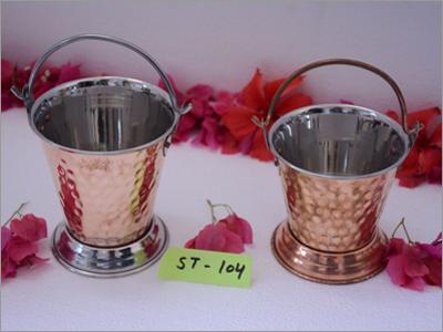 Brass Coated Bucket