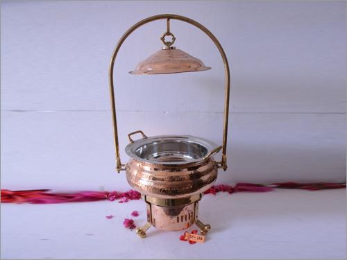 Brass Coated Chef Dish Warmer