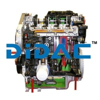 Fully Sectioned Four Cylinder Diesel Engine