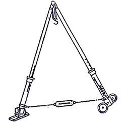 Jointed Roof Truss On Wheels